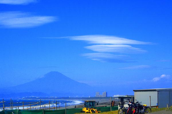富士さんとレンズ雲