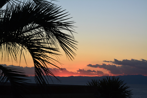 江の島の夕焼け