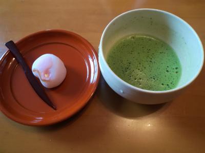 2.7抹茶で和菓子1