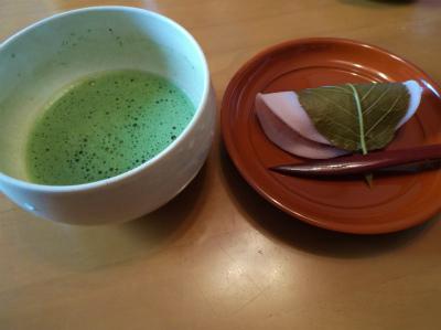 2.7抹茶で和菓子2