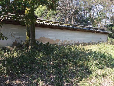 河合神社の土塀_H28.03.03撮影