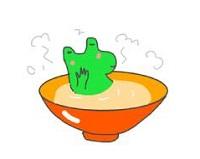 茶碗カエル