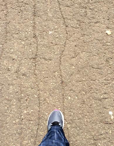 ガンバレ私の左足!