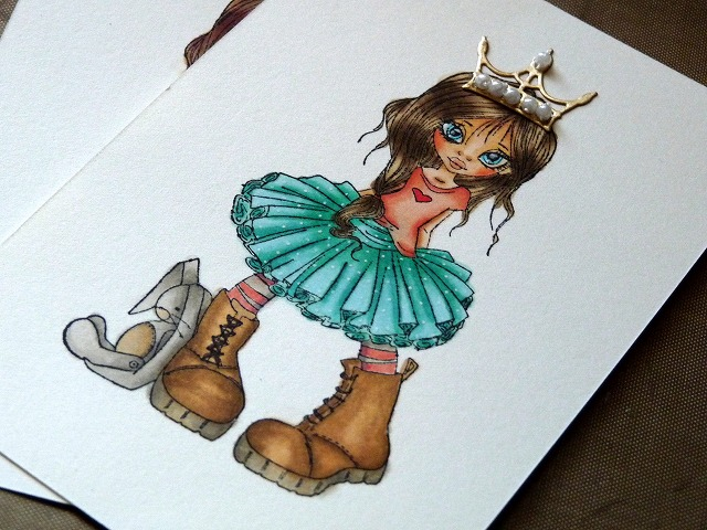 Little Darlings Saturated Canary Honey. Copic coloring