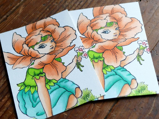 Stampendous Fairy Flower Copic coloring