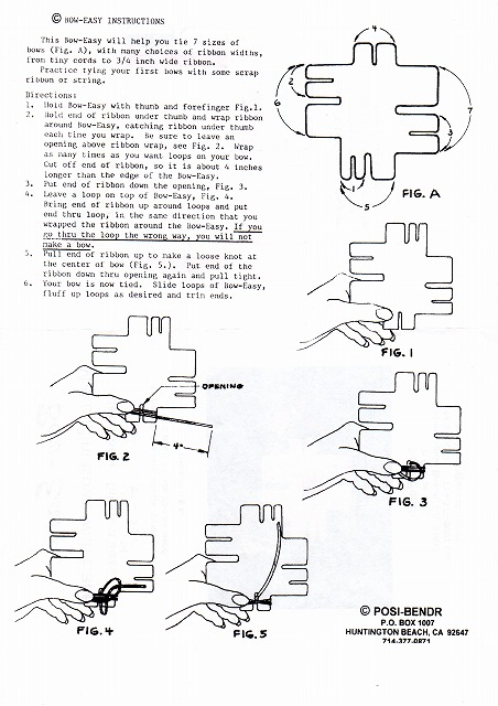 Bow Easy (リボンを簡単に作る道具)