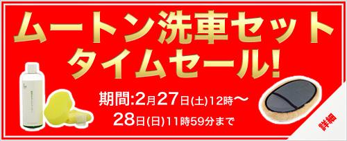 タイムセール 2/27 12時スタート ムートン洗車セット