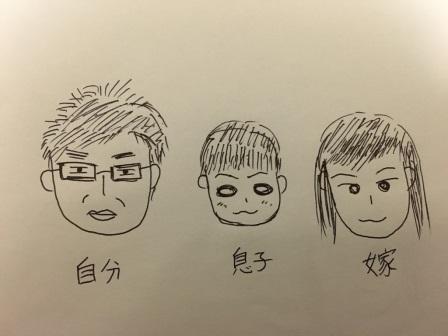 似顔絵家族
