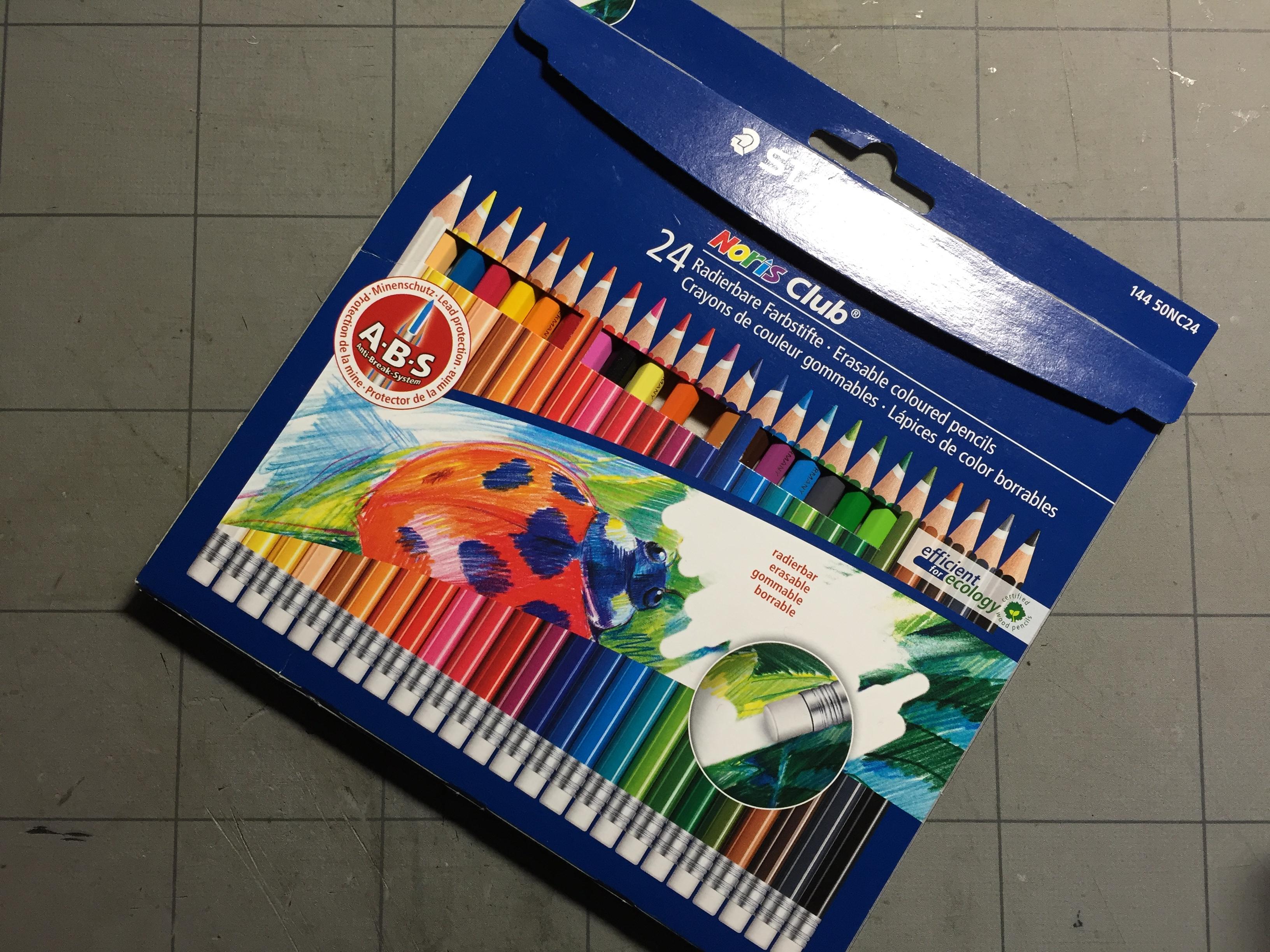 ステッドラー 消せる色鉛筆 ノリスクラブ 144 50NC24 24色