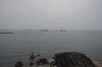 なぜか温泉泊ると翌朝作業船見る160201