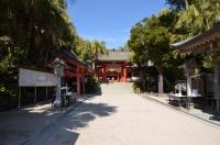 青島神社参道内160203