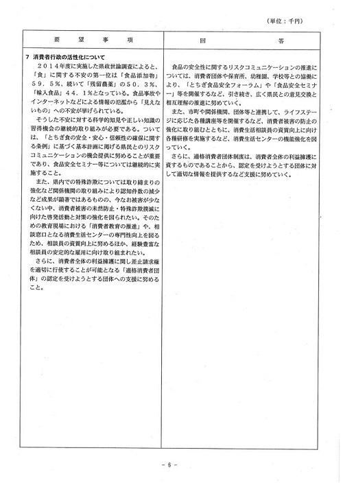 <民主党・無所属クラブ>当初予算・政策要望に対する知事回答!07