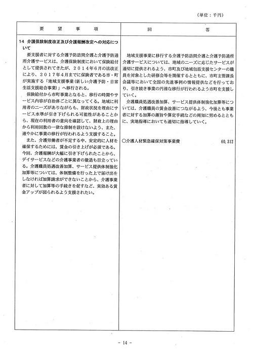<民主党・無所属クラブ>当初予算・政策要望に対する知事回答!15
