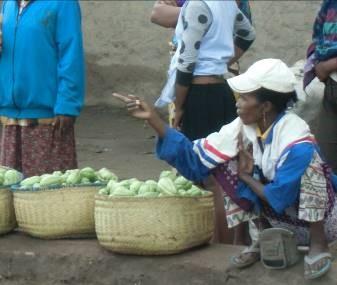 ハヤトウリ路上販売マダガスカル2月