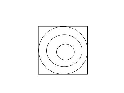 四角の上に丸3つ②