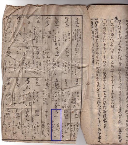 2016-2-23安静大地震の古文書2