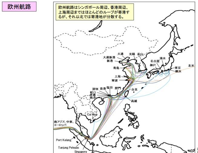 2016-3-3日本周辺の欧州航路