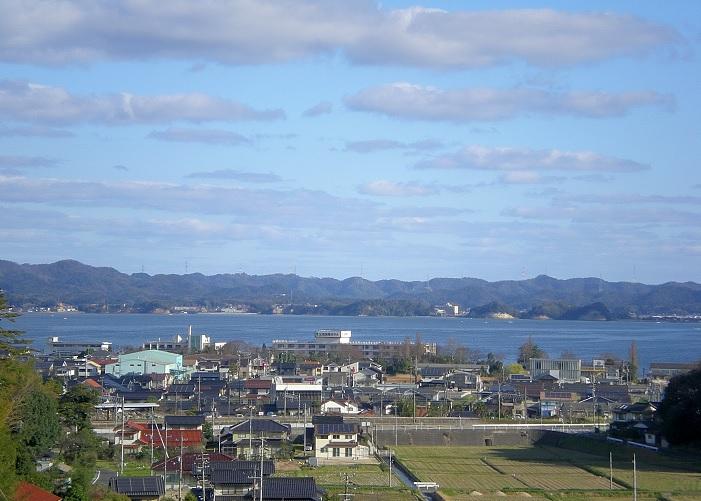 2016-3-22宍道湖SAより島根半島を望む