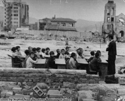 2016-4-1広島の被爆後の学校46年4月