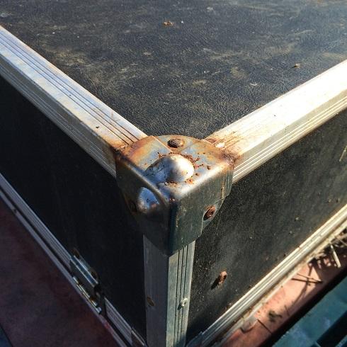 タカベ株式会社製 ハードケース屋外放置実験