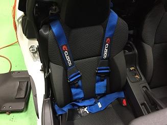 S660 4点式シートベルト取り付け♪ 素敵なお言葉が!?