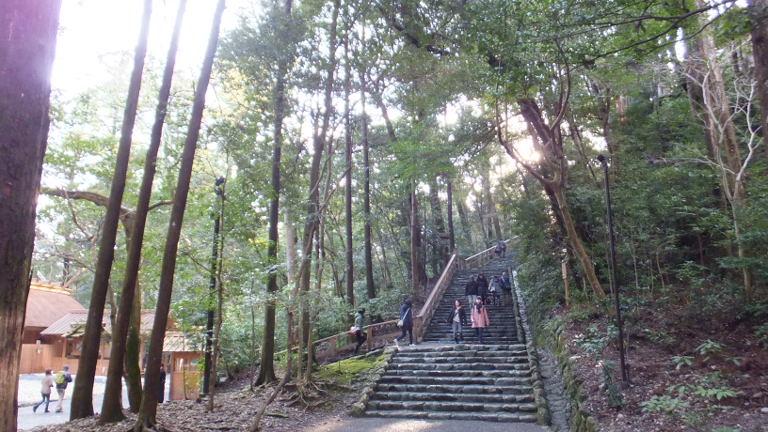 多賀宮への石段