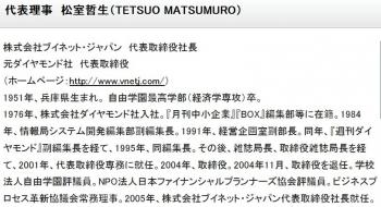 代表理事 松室哲生(TETSUO MATSUMURO)