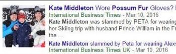 tokPossum Fur Kate Middleton