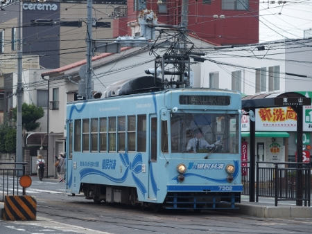 岡山電気軌道7300形7302