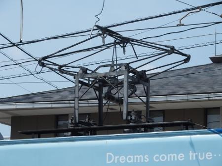 岡山電気軌道 石津式パンタグラフ