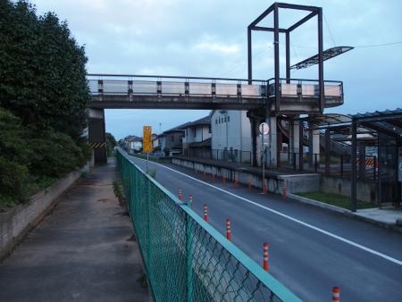 旧鹿島鉄道石岡南台駅ホーム