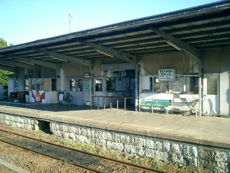 常陸小川駅 ホーム