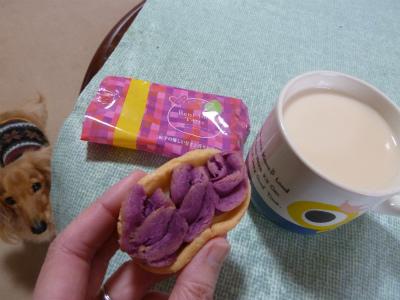 2016年1月紫芋タルト