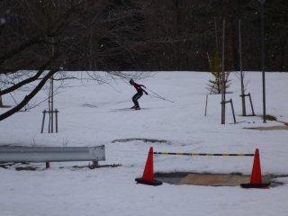 s歩くスキー練習中