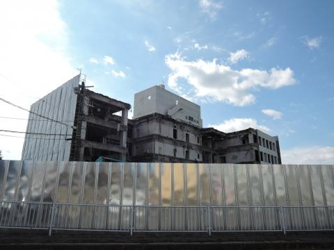 平成28年2月25日石岡市役所解体工事①
