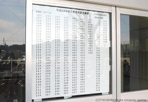 宇部高合格発表2016b