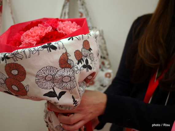 トートバッグブーケ 日比谷花壇2016母の日