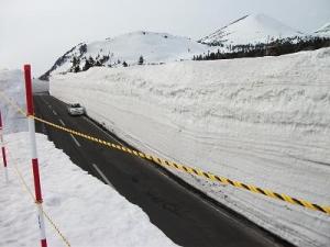140403雪の回廊に駐車