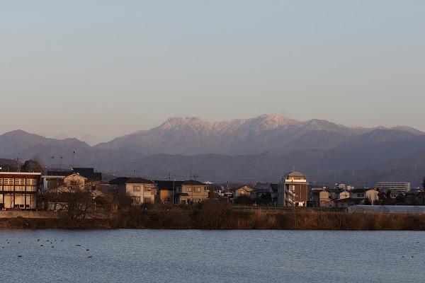 石鎚山冠雪&夕映え 160221 02