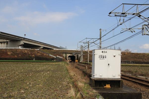予讃線・大明神川トンネル 160312 06