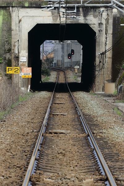 予讃線・大明神川トンネル 160312 03