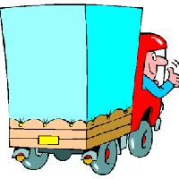 青いトラック