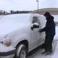 凍結した車