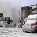 凍ったトラック