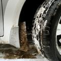 サイドブレーキの凍結