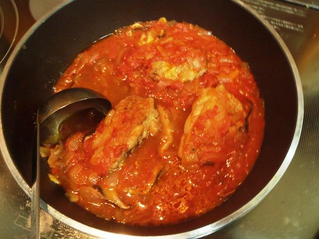 鶏肉のトマト煮込み20151225