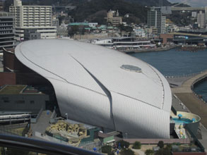 くじら型水族館