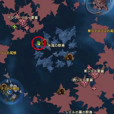 ドラコソロ位置地図