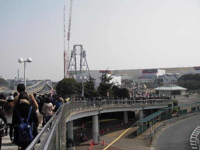 万博記念公園駅スロープ2016J1開幕戦当日