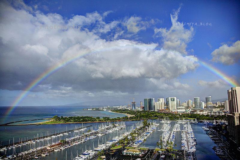 ハワイの虹 絵画風5